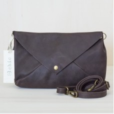 3Chic Holly pochette in pelle spider - col. testa di moro