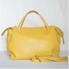 Borsa in pelle Made in Italy - col. giallo