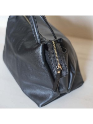Borsa in pelle Made in Italy - col. nero