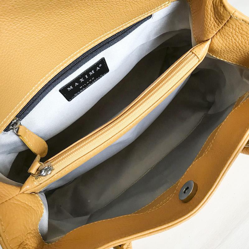 Maxima Diamante borsa piccola in pelle dollaro - col. giallo girasole