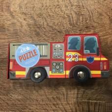Crocodile Creek - Puzzle camion dei pompieri