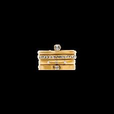 Dansk Smykkekunst anello set 4 pezzi oro