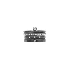 Dansk Smykkekunst anello set 4 pezzi ematite