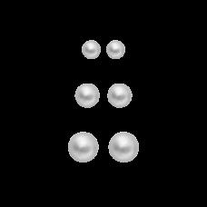Dansk Smykkekunst orecchini Simone orecchini argento - 3 paia