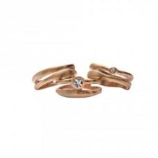 Dansk Smykkekunst Mix&Match anello oro rosa