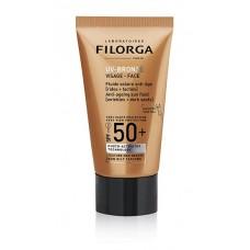 Filorga uv-bronze face SPF50+ - fluido solare anti-età (rughe e macchie)