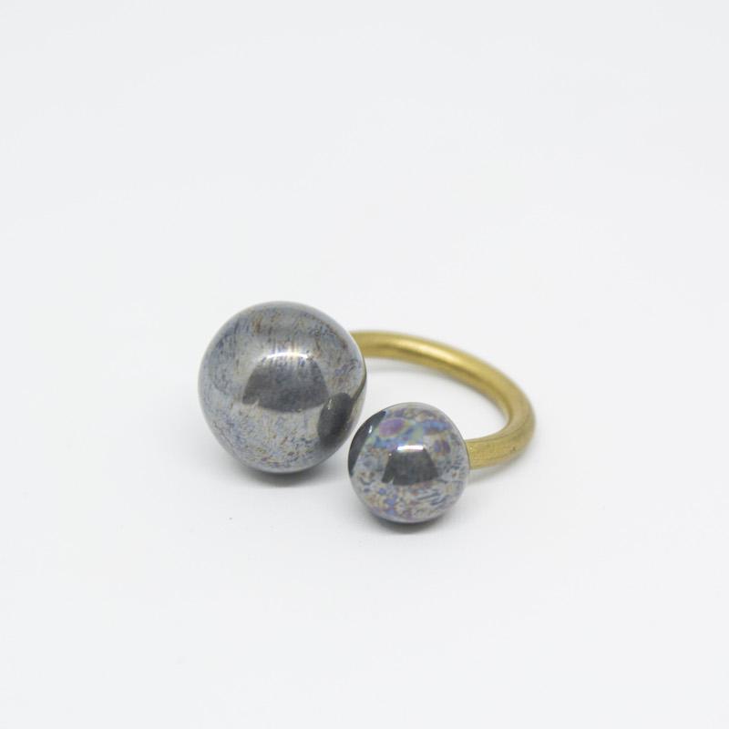 Jamais Sans Toi Gioielleria Contemporanea Dna anello in ceramica Lustro