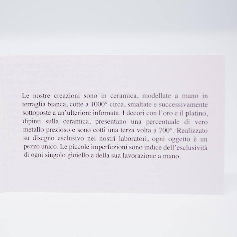 Jamais Sans Toi Gioielleria Contemporanea Dna Aureo orecchini in ceramica e oro