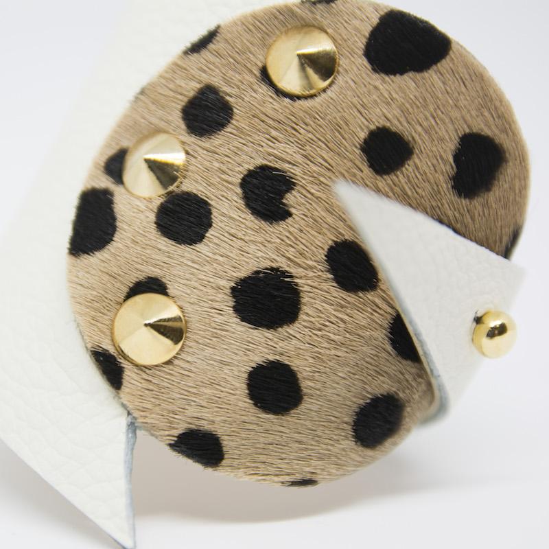 Abraxas bracciale in pelle e cavallino - Made in Italy