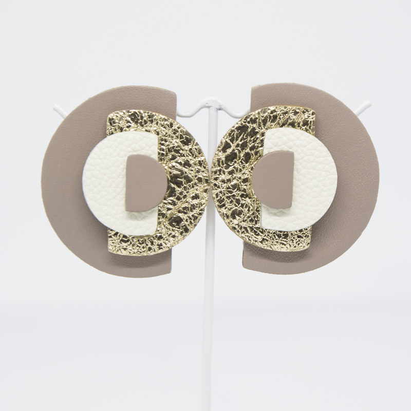 Hypnosis orecchini in pelle - Made in Italy