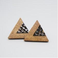 Orecchini a triangolo in pelle - Made in Italy