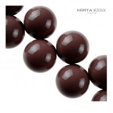 Mirta Bijoux Balls collana - caffè