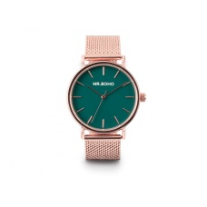 Mr. Boho Orologio Cadet Metallic Rame quadrante verde 36mm