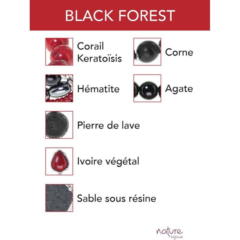 Nature Bijoux Black Forest collana