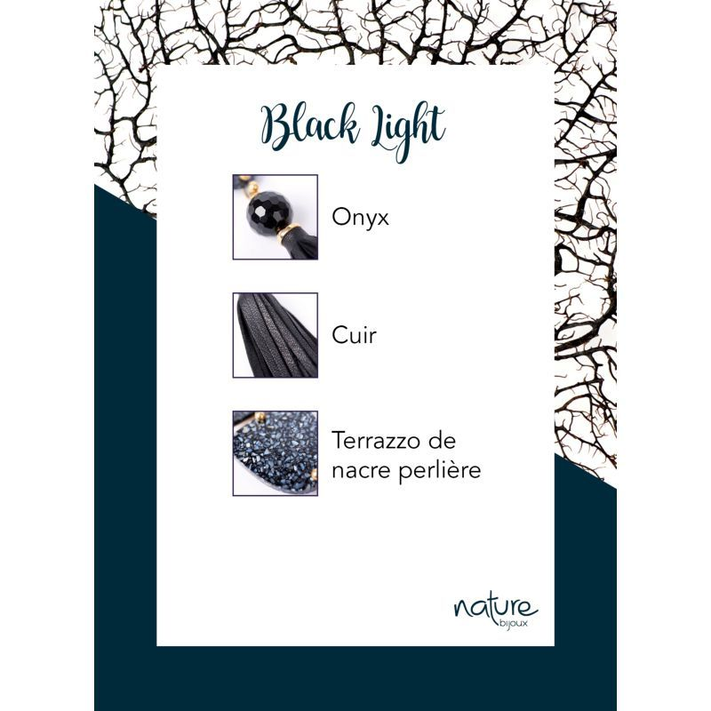 Nature Bijoux Black Light orecchini
