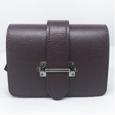 Pochette / Marsupio in pelle Made in Italy - col. bordeaux