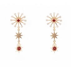 Principessa Glam Sparkle Pianeta Rosso orecchini