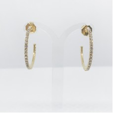 Principessa Glam cerchio strass orecchino - col. oro/bianco