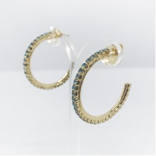 Principessa Glam cerchio strass orecchino - col. oro/azzurro