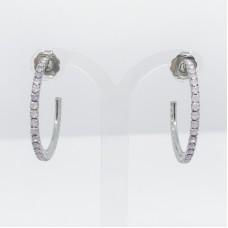 Principessa Glam cerchio strass orecchino - col. argento/rosa