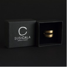 Susi Cala Jewelry Design anello in argento placcato oro